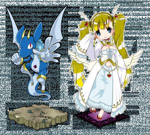 サンプルキャラクター「守護竜」「聖王女」